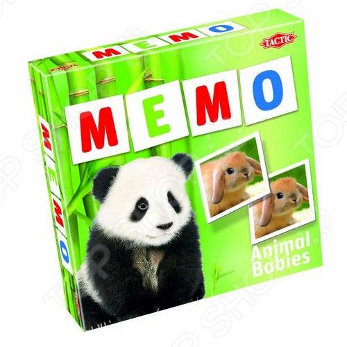 Игра развивающая Tactic 52676 «Мемо. Зверята 2» настольная игра tactic мемо дикие животные 2 41441