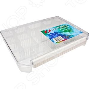 Коробка для хранения приманок Tsuribito со сменными отделениями TF2540Сопутствующие товары для рыбалки<br>Опытные и начинающие рыбаки знают, что успех в рыбной ловле в большинстве случаев зависит от уровня подготовки. Это касается не только выбора качественной и практичной оснастки, но и способов её хранения. Коробка для хранения приманок Tsuribito со сменными отделениями TF2540 важный и незаменимый атрибут, от которого зависит комфорт и удобство рыбака. В нем можно хранить не только приманки, но и прикормку разного вида, мелкие инструменты и запасные части для вашей удочки. Отсутствие такой удобной коробки во много затрудняет рыбалку, ведь все эти предметы приходится хранить в многочисленных пакетиках, сумочках или кармашках. Теперь все приманки можно будет разложить в 16 съемных перегородках, которые позволяют самостоятельно изменять размер каждого отделения, что очень удобно, если вы используете разногабаритную приманку. Дополнительным преимуществом такого приспособления является простота его транспортировки. Так как зачастую до места клева приходится добираться пешим ходом, нужно чтобы все было компактным, поэтому такая пластиковая коробка не добавит большого веса вашей рыбацкой сумке или рюкзаку.<br>