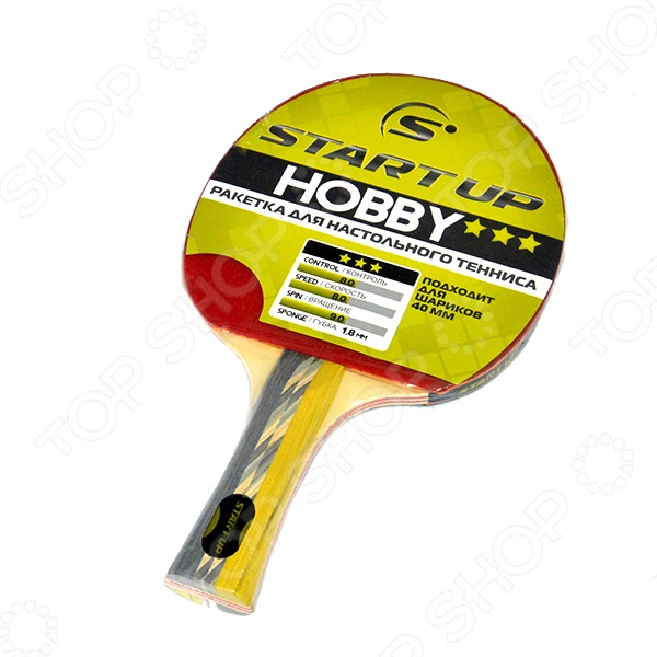 Ракетка для настольного тенниса Start Up Hobby 3Star с конической ручкой ракетка для настольного тенниса butterfly timo boll bronze