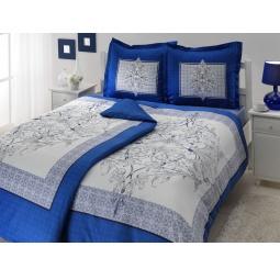 фото Комплект постельного белья TAC Caron. Семейный. Цвет: синий