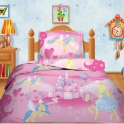 фото Детский комплект постельного белья Кошки-Мышки «Розовая страна»