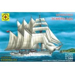 фото Сборная модель морского судна Моделист баркентина «Эсмеральда»