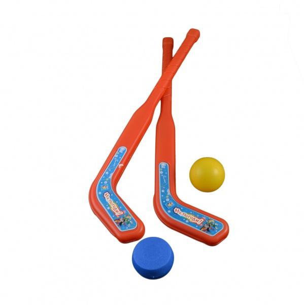 Клюшка с шайбой и мячиком 1 TOY Т53919