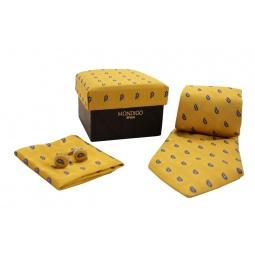 фото Набор подарочный: галстук, запонки, нагрудный платок Mondigo 43101