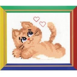 фото Набор для вышивания крестиком Сотвори Сама «Котик»