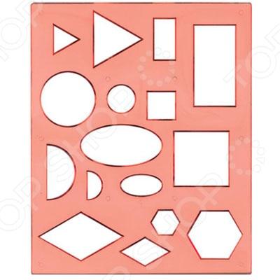 Трафарет пластиковый Луч «Геометрические фигуры» 1Трафареты<br>Трафарет пластиковый Луч Геометрические фигуры 1 для творчества, который станет отличным подарком для ребенка. С помощью такого трафарета можно создать уникальную коллекцию фигурок используя акварель, пластилин, карандаши и другие предметы. Для этого необходимо приложить трафарет к поверхности, и обвести по контуру. Подобные занятия способствуют развитию фантазии, учат ребенка правильно сочетать различные цвета, фигуры и формы.<br>
