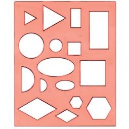 Купить Трафарет пластиковый Луч «Геометрические фигуры» 1