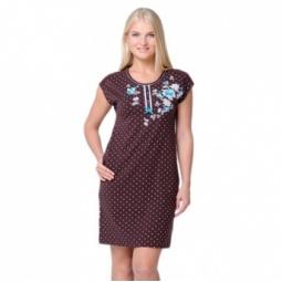 фото Платье Santi AW15-UAT-LDS-014. Цвет: шоколад. Размер одежды: 54-56