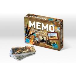 Купить Игра настольная развивающая БЭМБИ «Мемо. Картины русских художников»