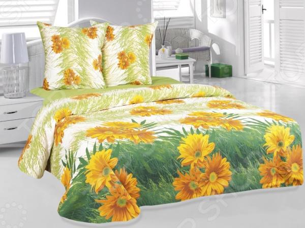 Комплект постельного белья Tete-a-Tete «Герберы». СемейныйСемейные<br>Комплект постельного белья Tete-a-Tete Герберы это удобное постельное белье, которое подойдет для ежедневного использования. Чтобы ваш сон всегда был приятным, а пробуждение легким, необходимо подобрать то постельное белье, которое будет соответствовать всем вашим пожеланиям. Приятный цвет, нежный принт и высокое качество ткани обеспечат вам крепкий и спокойный сон. Бязь, из которой сшит комплект отличается следующими качествами:  100 натуральное хлопковое волокно;  высокая гигроскопичность и антибактериальные свойства;  высокая прочность и эластичность;  даже после многократных стирок не линяет и не теряет своих свойств. Постельное белье этой марки отличается экологически чистыми материалами и устойчивыми красителями. Что бы сохранить цвет и другие характеристики ткани, следует стирать при температуре 40 градусов, а так же выбирать щадящий режим сушки и отжима. Перед стиркой следует вывернуть пододеяльник и наволочки наизнанку. Стирать с постельным бельем из других видов тканей не рекомендуется во избежание потери качества.<br>