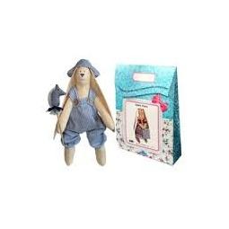 Купить Подарочный набор для изготовления текстильной игрушки Кустарь «Зайка Илюша»