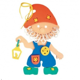 фото Игра развивающая для малыша Флексика «Шнуровка. Гномик»