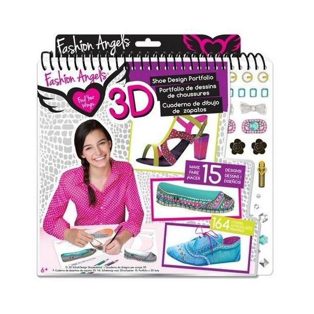 фото Портфолио-блокнот дизайнера Fashion Angels 11812 «Бутик 3D обуви»