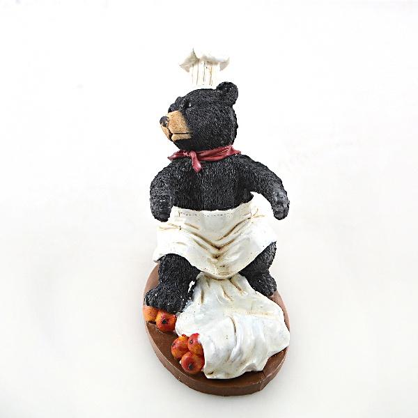 Подставка для вина Drivemotion «Медведь-повар». Расположение бутылки: перед собой