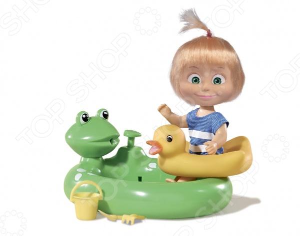Набор игровой с куклой Simba «Маша с бассейном»Куклы<br>Набор игровой с куклой Simba Маша с бассейном это шикарная кукла, которая непременно понравится девочкам, особенно если им нравится сериал про миленькую девочку Машу и ее большого доброго друга-медведя. Кукла одета в плавательный костюмчик, в котором она отправилась поплескаться в бассеине-лягушонке. Игрушка предназначена для сюжетно-ролевых игр, ведь игры с куклами благоприятно влияют на социализацию и полноценное формирование психики ребенка. Все элементы набора выполнены из нетоксичных материалов, поэтому полностью безопасны для ребенка.<br>