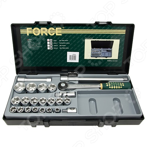 Набор с торцевыми головками Force F-4234A набор с торцевыми головками и битами force f k2463