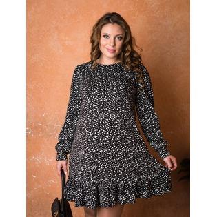 Купить Платье для беременных Nuova Vita 2154.01. Цвет: черный, белый