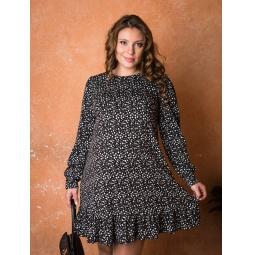 фото Платье для беременных Nuova Vita 2154.01. Цвет: черный, белый. Размер одежды: 44