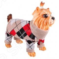 Свитер для собак DEZZIE «Бикс»Попоны<br>Свитер для собак DEZZIE Бикс согреет вашего любимца в холодное время года. В нем ваш любимец будет защищен от переохлаждений и загрязнений шерсти. Свитер связан лицевой гладью с рисунком ромбы в бежевых тонах. Для сохранения свитера при носке по рукавам, вороту и краю изделия связана резинка 2х2. В таком свитере ваш питомец будет самым модным на прогулке.<br>