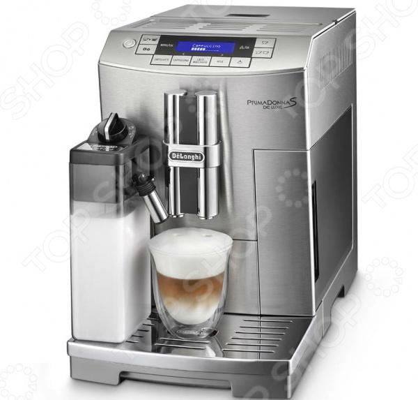 Кофемашина DeLonghi ECAM 28 465 MКофемашины<br>Кофемашина DeLonghi ECAM 28 465 M многофункциональная и компактная модель, которая прекрасно подходит для дома или офиса. Новая кофемашина станет предметом вашей гордости и причиной частых визитов гостей. Машина имеет функцию одного заваривания на две чашки одновременно. При полном контейнере для кофе, устройство приготовит 14 порций вкусного и горячего напитка, сохранив все вкусовые качества и аромат. Модель оснащена дисплеем, который облегчит пользование программой. Систему кофемашины можно настроить под себя, отрегулировав количество кофе, воды, а также температуру. Устройство обладает функциями включения и выключения, а также режимом ожидания. Благодаря встроенной кофемолке, можно использовать любой натуральный кофе. Кофемашина оснащена фильтром и индикатором уровня воды. Очень проста в уходе, так как устройство практически полностью самоочищается. Система оснащена функцией полного отключения от энергосистемы, тем самым экономя потребление электричества. Основным отличием и преимуществом перед другими кофемашинами является запатентованная система Автокапучино , которая позволяет приготовить идеальный латте, макиато или капучино одним нажатием кнопки. С этой кофемашиной вы скрасите время просмотра фильма или чтение книги за горячим и вкусным напитком.<br>