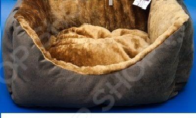 Лежак для животных ZOOExpress «Пухлик» с мехом