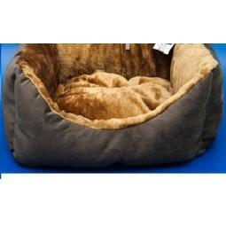 фото Лежак для животных ZOOExpress «Пухлик» с мехом. Высота: 21 см. Размер: 43х32 см