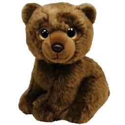 фото Мягкая игрушка TY Бурый медведь YUKON. Высота: 27 см