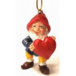 фото Игрушка елочная Феникс-Презент 38974 «Влюбленный Гном»