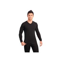 Купить Футболка мужская черная с длинными рукавами