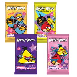 фото Салфетки влажные очищающие Angry Birds School №10 Mix. В ассортименте