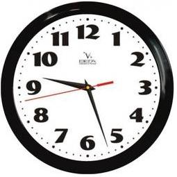 Купить Часы настенные Вега П 1-6/6-45 Черный кант Классика
