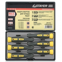 фото Набор отверток для точных работ Stayer Professional Max-Grip 25826-H6 G