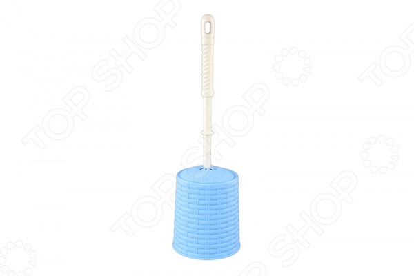 Ёршик для туалета и подставка круглая Violet 1201 «Ротанг»