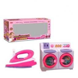 фото Игровой набор для девочки Shantou Gepai «Стиральная машина с утюгом»