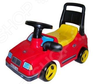 Машина-каталка со звуком Полесье «Вихрь с гудком» полесье полесье каталка mig скутер