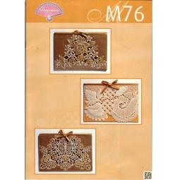 Купить Набор схем для парчмента Pergamano M76 Золотое кружево