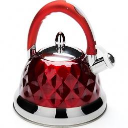 фото Чайник со свистком Mayer&Boch «Граненый». Цвет: красный