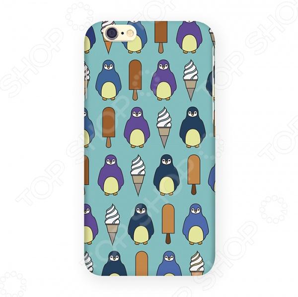 Чехол для iPhone 6 Mitya Veselkov «Пингвины и эскимо» цена и фото