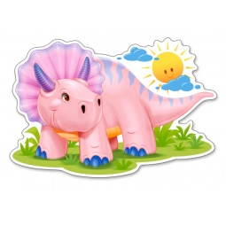 Купить Пазл 12 элементов Castorland «Розовый динозаврик»