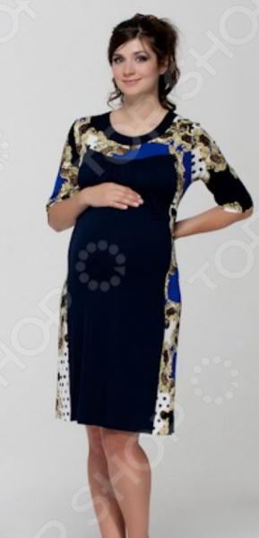 Платье для беременных Nuova Vita 2144.2. Цвет: синий цена 2017