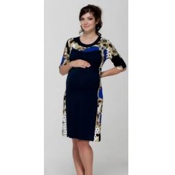 Купить Платье для беременных Nuova Vita 2144.2. Цвет: синий