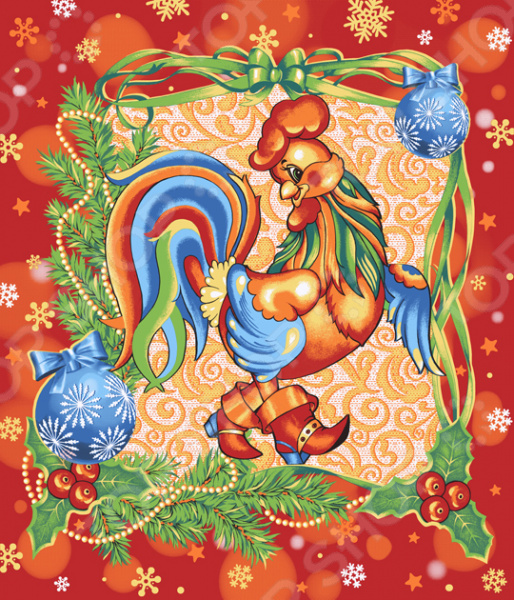 Полотенце вафельное ТексДизайн «Год Петуха»Полотенца<br>Кухня начинается с полотенца Каждая хозяйка заботится о уюте и красоте своего дома. Особое место занимает кухня, откуда всегда вкусно пахнет, а внутри царит атмосфера чистоты и семейного очага. Каждая деталь интерьера подбирается с особой тщательностью и вниманием, а значит вафельное полотенце Год Петуха марки ТексДизайн станет отличным выбором. На кухни нужно иметь минимум одно полотенце, потому что изделия подобного рода очень быстро пачкаются. Вафельная ткань считается одним из лучших решений для кухни благодаря своим качествам:  состоит 100 натурального хлопка;  материал гипоаллергенный, благодаря чему он подходит для всех;  хорошая гигроскопичность позволяет моментально убрать пролитую жидкость;  хорошая износостойкость, позволяющая использовать полотенце в течении длительного времени. Это великолепное изделие, которое переживет многократные стирки и при этом сохранит свою внешнюю презентабельность и свойства. В центре кухни и внимания Кухонное полотенце это неотъемлемая часть домашнего текстиля. Прежде всего, их предназначение это функциональное использование на кухне и часть декора. Как принято, кухня является одной из центральных комнат в каждом доме. На ней собирается вся семья за завтраком, приходят родственники и друзья. А значит, изящное вафельное полотенце с оригинальным и красочным изображением петуха всегда будет в центре внимания, украшая собой интерьер.  Уникальность этой модели вафельного полотенца заключается в следующем:  оптимальный размер изделия, позволяющий удобно им пользоваться;  красочный рисунок, тематикой прекрасно подходит для кухни;  насыщенные и стойки краски, позволяющие сохранить яркость рисунка;  вафельный материал, способный впитать в три раза больше влаги, чем вес ткани. Эстетика дома и искусство ведения домашнего хозяйства известны не понаслышке любой женщине каждая стремится, чтобы её дом был не только красивым, но и рационально организованным, удобным для своих жильцов. П