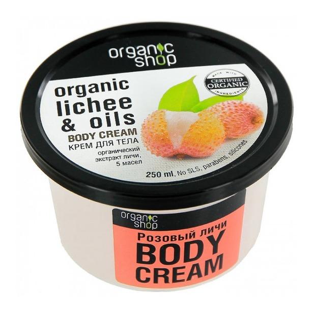 фото Крем для тела Organic shop Body cream. Вид: розовый личи