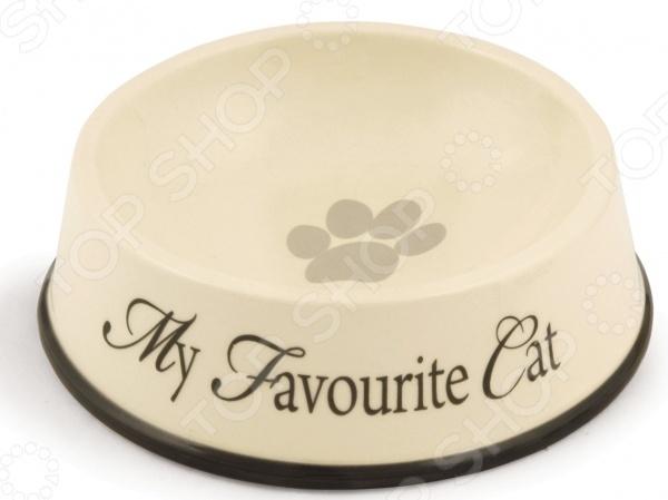 Миска для кошек с окантовкой Beeztees Outer. My Favourite Cat