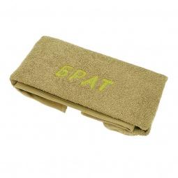 фото Полотенце подарочное с вышивкой TAC Брат. Цвет: оливковый