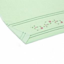 фото Полотенце махровое Любимый дом «Маргаритки». Размер полотенца: 70х35 см. Цвет: зеленый