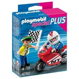 фото Набор фигурок к игровому конструктору Playmobil «Дополнение: Мальчики с гоночным мотоциклом»