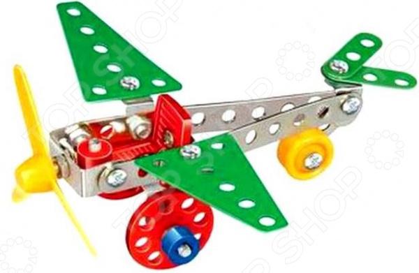 Конструктор металлический Built-Up Toys «Собираем. Аэроплан»Металлические конструкторы<br>Конструктор металлический Built-Up Toys Собираем. Аэроплан игровой набор, который обязательно понравится вашему чаду. Конструктор, состоящий из 56-ти деталей, надолго увлечет юного инженера. А в итоге он получит замечательный аэроплан, вместе с которым сможет осуществлять боевые вылеты и показывать увлекательные мастер-классы. Ребенок может позвать своих друзей, чтобы определить, чей же летательный аппарат самый быстрый, маневренный и мощный! Почему стоит выбрать конструктор от Built-Up Toys  Все детали выполнены из качественного металла.  Набор прекрасно детализирован.  Все составляющие надежно скрепляются друг с другом.  Яркая расцветка и стильный дизайн.  Все детали тщательно обработаны, не имеют острых углов и выступов.  Подробнейшая инструкция в комплекте. Имея инструкцию под рукой, ребенок сможет без затруднений создать свой собственный шедевр! Конструирование аэроплана станет не только замечательным развлечением, но и разовьет мелкую моторику рук, поможет выработать внимательность и сосредоточенность, научит ваше чадо быть терпеливее. Несомненно, все эти качества обязательно пригодятся ребенку в школе. Конструктор разовьет воображение и пространственное мышление ребенка. Он сможет придумывать самые разнообразные истории, наполненные приключениями и азартом, в которых главная роль достанется крутому аэроплану творению его собственных рук!<br>