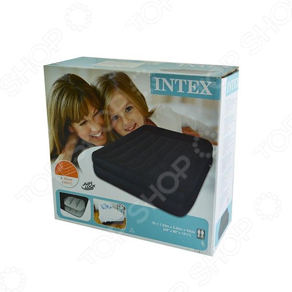 Матрас-кровать надувной Intex «Райзинг комфорт»Надувные матрасы, кресла, кровати<br>Матрас-кровать надувной Intex Райзинг комфорт это отличная надувная кровать, которая прекрасно подойдет для отдыха дома. Кроме того, этот матрас можно брать с собой на природу, прочный материал позволит вам использовать его практически на любой поверхности. Этот матрас так же можно использовать дома, если к вам неожиданно приехали гости. Матрас изготовлен из высококачественного водонепроницаемого винила.<br>