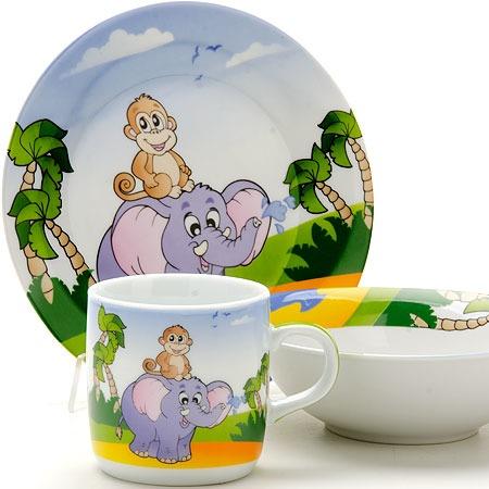 Купить Набор посуды для детей Loraine «Слоник»